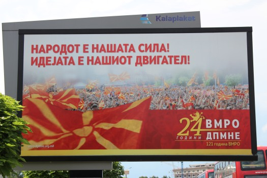 Macedonian political campaign.