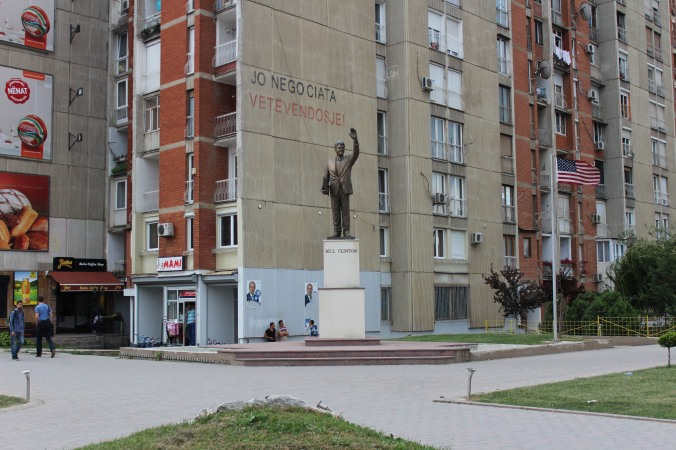 Bill Clinton Statue.. In all places-- Prishtina, Kosovo. 2014