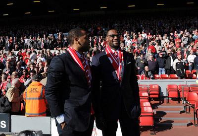 Lebron James attending a Liverpool FC match-